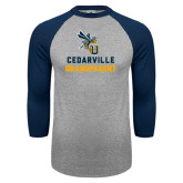 Grey/Navy Raglan Baseball T Shirt-Grandparent