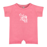 Bubble Gum Pink Infant Romper-CU with Yellow Jacket
