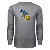 Grey Long Sleeve T Shirt-CU with Yellow Jacket