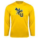 Performance Gold Longsleeve Shirt-CU with Yellow Jacket