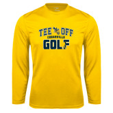 Performance Gold Longsleeve Shirt-Tee Off Golf Design