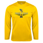 Performance Gold Longsleeve Shirt-Track and Field Design