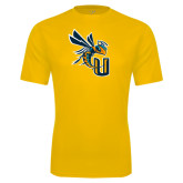 Performance Gold Tee-CU with Yellow Jacket