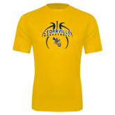 Performance Gold Tee-Basketball In Ball Design