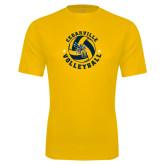 Syntrel Performance Gold Tee-Volleyball Stars Design