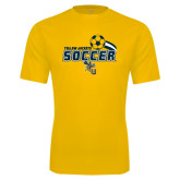 Performance Gold Tee-Soccer Swoosh Design