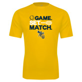 Syntrel Performance Gold Tee-Game Set Match Tennis Design