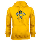Gold Fleece Hoodie-Basketball In Ball Design