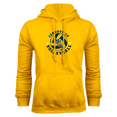 Gold Fleece Hoodie-Volleyball Stars Design