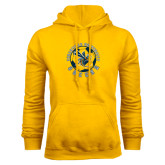 Gold Fleece Hoodie-Soccer Circle Design