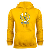 Gold Fleece Hoodie-Tennis Ball Design