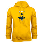 Gold Fleece Hoodie-Golf Golfer Design