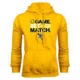 Gold Fleece Hoodie-Game Set Match Tennis Design