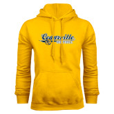 Gold Fleece Hoodie-Softball Design