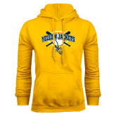 Gold Fleece Hoodie-Softball Bats and Plate Design