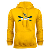 Gold Fleece Hoodie-Baseball Bats Design