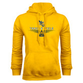 Gold Fleece Hood-Track and Field Design