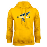 Gold Fleece Hoodie-Track and Field Side Shoe Design