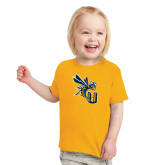 Toddler Gold T Shirt-CU with Yellow Jacket