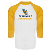 White/Gold Raglan Baseball T-Shirt-Grandparent