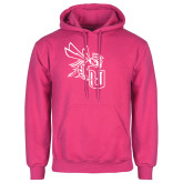 Fuchsia Fleece Hoodie-CU with Yellow Jacket