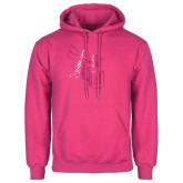 Fuchsia Fleece Hoodie-Yellow Jacket Foil