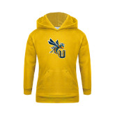 Youth Gold Fleece Hoodie-CU with Yellow Jacket