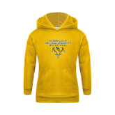Youth Gold Fleece Hoodie-Basketball Stacked Design