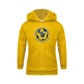Youth Gold Fleece Hoodie-Soccer Circle Design