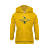 Youth Gold Fleece Hoodie-Track and Field Design