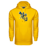 Under Armour Gold Performance Sweats Team Hood-CU with Yellow Jacket