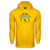 Under Armour Gold Performance Sweats Team Hoodie-Basketball In Ball Design