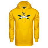 Under Armour Gold Performance Sweats Team Hoodie-Baseball Bats Design
