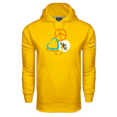 Under Armour Gold Performance Sweats Team Hood-Peace, Love, and Volleyball Design