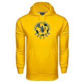 Under Armour Gold Performance Sweats Team Hoodie-Soccer Circle Design