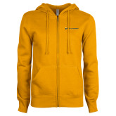 ENZA Ladies Gold Fleece Full Zip Hoodie-Department of History and Government