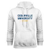 White Fleece Hoodie-Cedarville University EST. 1887