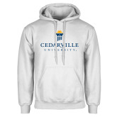 White Fleece Hoodie-Cedarville University