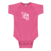 Fuchsia Infant Onesie-CU with Yellow Jacket