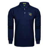 Navy Long Sleeve Polo-CU with Yellow Jacket