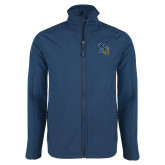 Navy Softshell Jacket-CU with Yellow Jacket