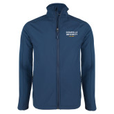 Navy Softshell Jacket-Cedarville University EST. 1887