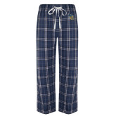 Navy/White Flannel Pajama Pant-CU with Yellow Jacket
