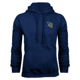 Navy Fleece Hoodie-CU with Yellow Jacket