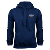 Navy Fleece Hoodie-Cedarville University EST. 1887