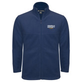 Fleece Full Zip Navy Jacket-Cedarville University EST. 1887