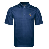 Navy Mini Stripe Polo-CU with Yellow Jacket