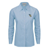 Ladies Light Blue Oxford Shirt-CU with Yellow Jacket