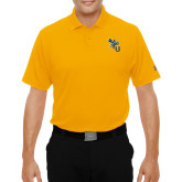 Under Armour Gold Performance Polo-CU with Yellow Jacket