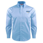 Red House Light Blue Dobby Long Sleeve Shirt-Cedarville University EST. 1887